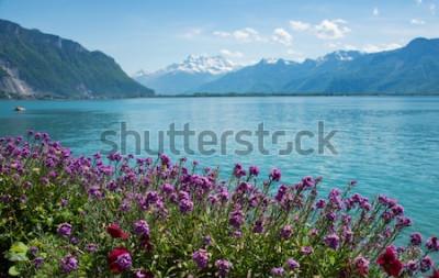 Carta da parati questa è una foto di paesaggio montano, Svizzera
