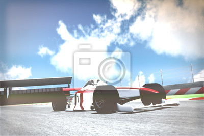 Carta da parati Race Car on Track