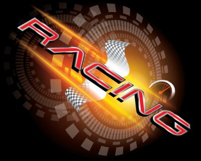 Carta da parati Racing Concept VETTORE