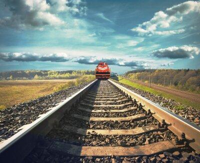 Carta da parati Railroad with a freight train