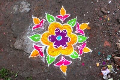 Carta da parati Rangoli / Munnar (Kerala / Inde