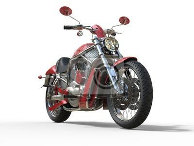 Carta da parati Red Roadster Bike - vista frontale