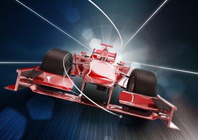 Carta da parati Rendering 3D, formula uno concept car