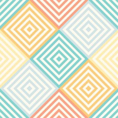 Carta da parati Reticolo geometrico astratto senza soluzione di continuità - rombi