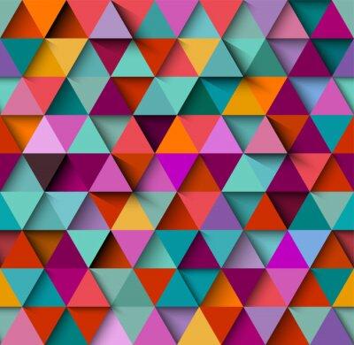 Carta da parati Reticolo senza soluzione di continuità con triangoli e ombre, vettore eps10