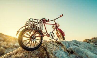 Carta Da Parati Retrò Bicicletta Giocattolo In Riva Al Mare