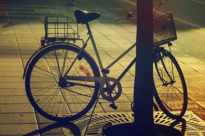 Carta da parati Retro bicicletta sulla strada