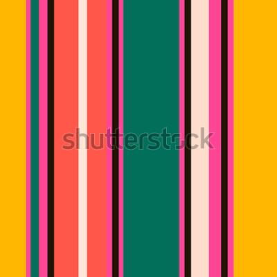 Carta da parati Retro modello luminoso colorato strisce colorate senza soluzione di continuità. Sfondo astratto vettoriale Colori alla moda.