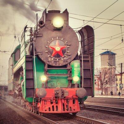 Carta da parati Retro steam train.