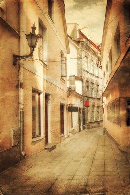 Carta da parati Retro stile immagine della vecchia strada europeo
