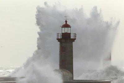 Carta da parati Retroilluminato onda di tempesta grande