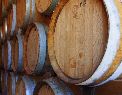 Carta da parati Righe di botti di vino