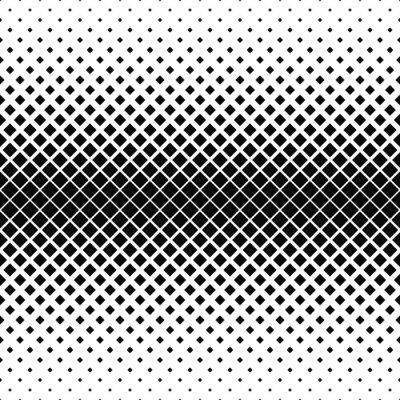 Carta da parati Ripetendo in bianco e nero modello quadrato
