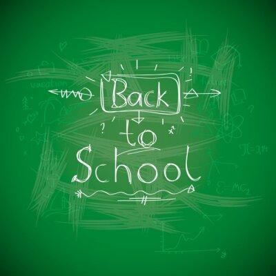 Carta da parati Ritorno a scuola, chalkwriting sulla lavagna, immagini Eps10 vettore.