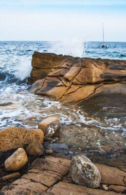 Carta da parati Rocas en la costa