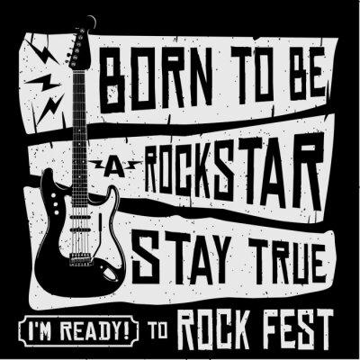 Carta da parati Rock Festival Musica Vector T shirt o Poster Illustration