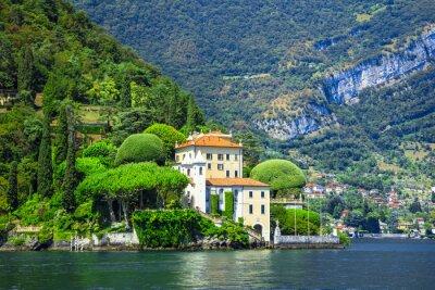 Carta da parati romantico Lago di Como, Villa del Balbianello
