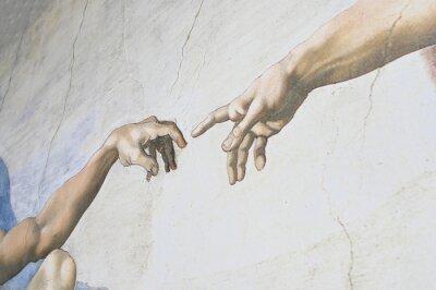 Carta da parati Rome Italy March 08 creation of Adam by Michelangelo