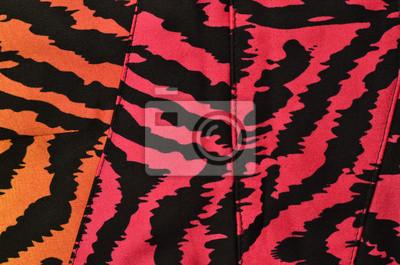 Rosa Arancio E Nero Motivo Zebrato Degradare Animal Print Rosa