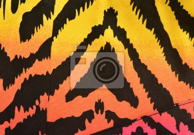Rosa Arancione Giallo Motivo Zebrato Degradare Stampa Animalier
