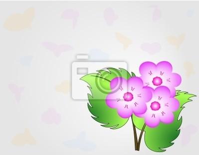 Rosa Bouquet Su Sfondo Grigio Con Farfalle Carta Da Parati Carte
