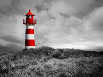 Carta da parati Rot-Weißer Leuchtturm