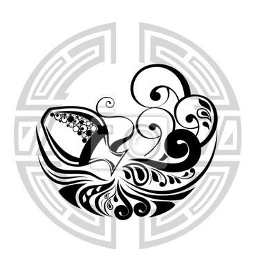 Disegno Acquario Segno Zodiacale.Carta Da Parati Rotella Dello Zodiaco Con Il Segno Dellacquario