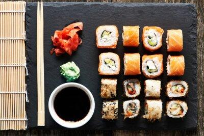 Carta da parati rulli di sushi