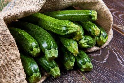Carta da parati Sacco di tela pieno di zucchine