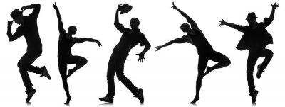 Carta da parati Sagome di ballerini nel concetto di danza