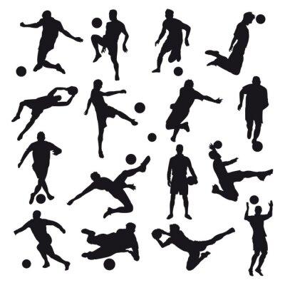 Carta da parati Sagome di calcio