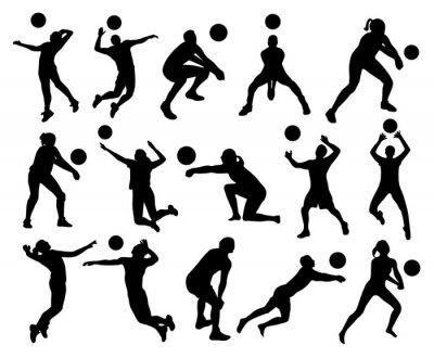 Carta da parati Sagome di pallavolo