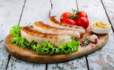 Carta da parati Salsicce di pollo alla griglia