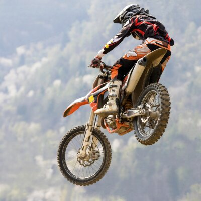 Carta da parati salto con moto da cross