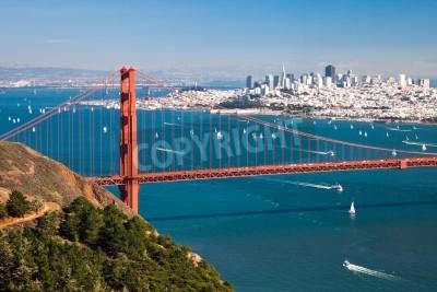 Carta da parati San Francisco Panorama dalla baia di San Francisco