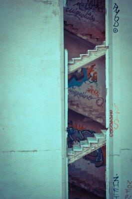 Carta da parati scale cariati