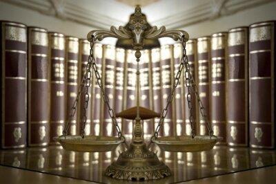 Carta da parati Scale decorative di giustizia