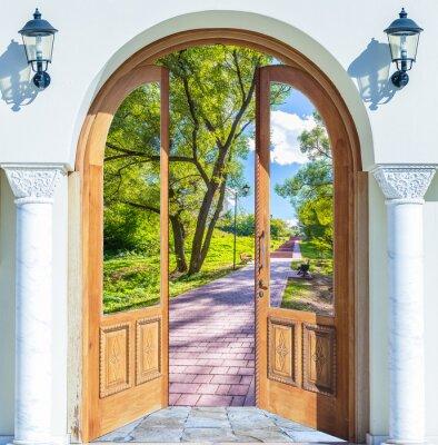 Carta da parati Scaletta porta aperta