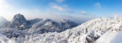 Carta da parati scena di neve della collina Huangshan in inverno