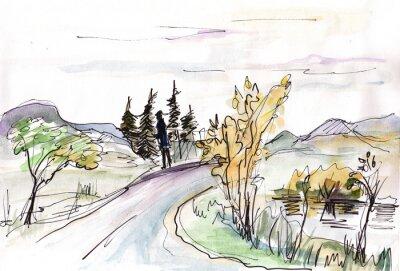 Carta da parati Schizzo immediato, Islanda
