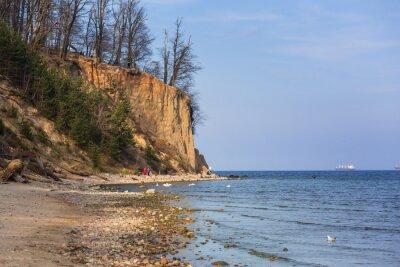 Carta da parati Scogliera di Orlowo al Baltico, la Polonia