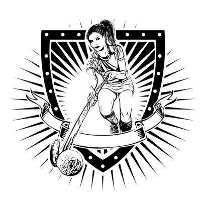 Carta da parati scudo hockey su prato