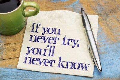 Carta da parati Se non avete mai provate frase sul tovagliolo
