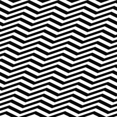 Carta da parati Seamless black modello bianco chevron