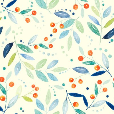 Carta da parati seamless botanico
