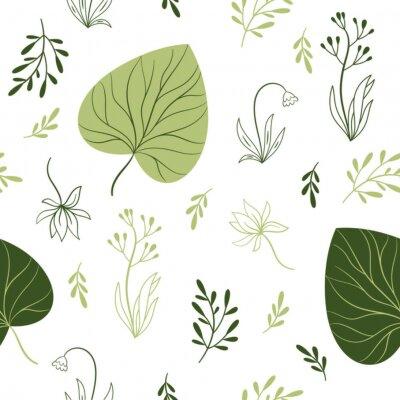 Carta da parati seamless con fiori, elementi floreali, design del tessuto