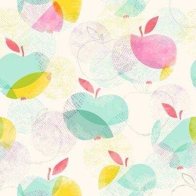 Carta da parati seamless con le mele