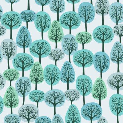 Carta da parati seamless con una foresta di inverno