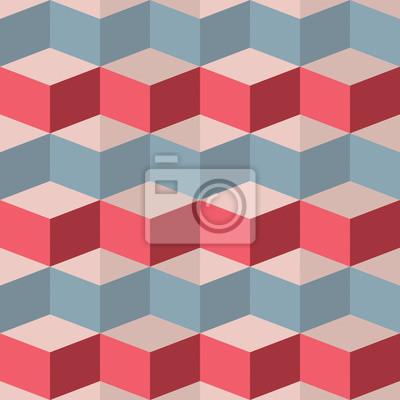 Carta da parati Seamless geometrico lampone