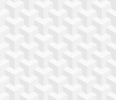 Carta da parati seamless isometrica. 3D illusione ottica di fondo.